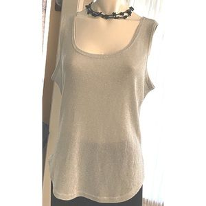 Top Shell Stretch Glittery Silver Size XL